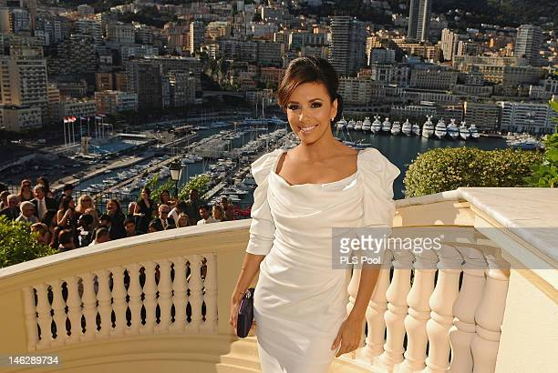 Actress Eva Longoria attends Cocktail at Monaco State Minister during the 52nd Monte Carlo TV Festival on June 12 2012 in MonteCarlo Monaco