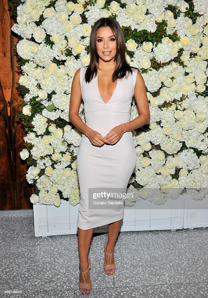 Actress Eva Longoria attends David And Victoria Beckham Along With Barneys New York Host A Dinner To Celebrate The Victoria Beckham Collection at...