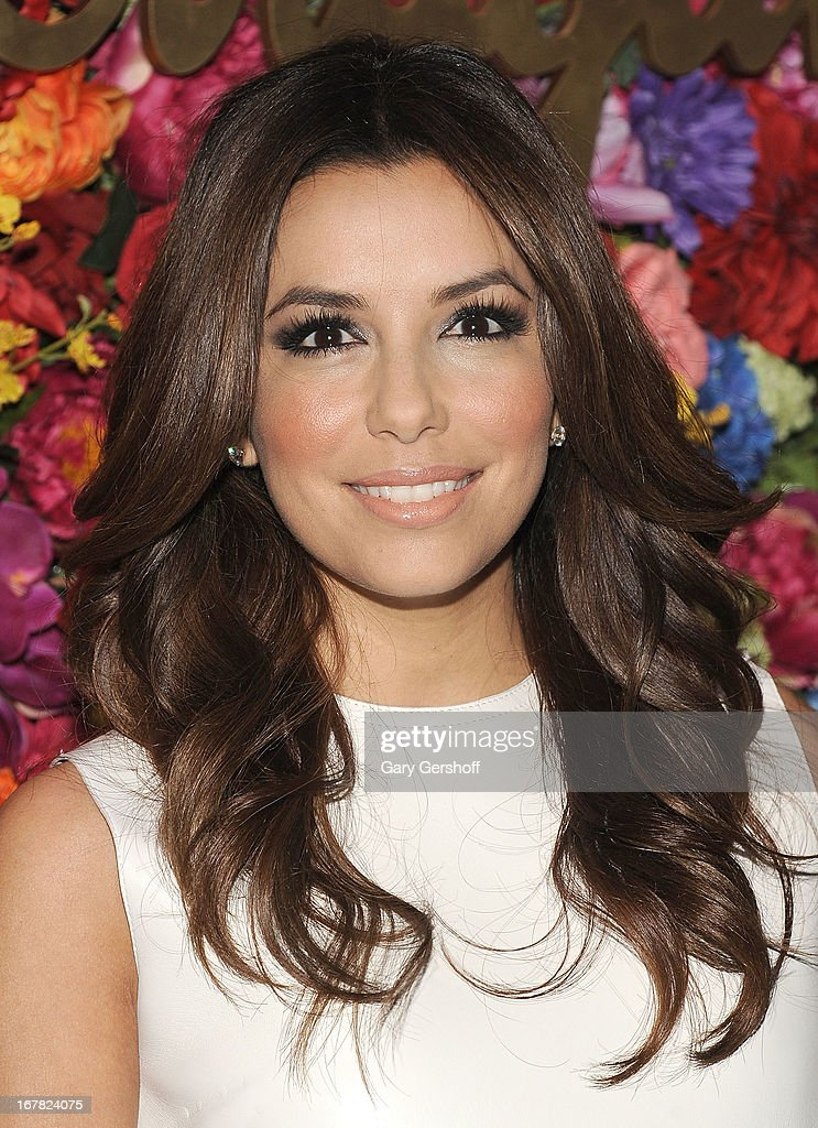 Actress <a gi-track='captionPersonalityLinkClicked' href=/galleries/search?phrase=Eva+Longoria&family=editorial&specificpeople=202082 ng-click='$event.stopPropagation()'>Eva Longoria</a> attends Ferragamo Celebrates The Launch Of L'Icona Highlighting The 35th Anniversary Of Vara at 530 West 27th Street on April 30, 2013 in New York City.