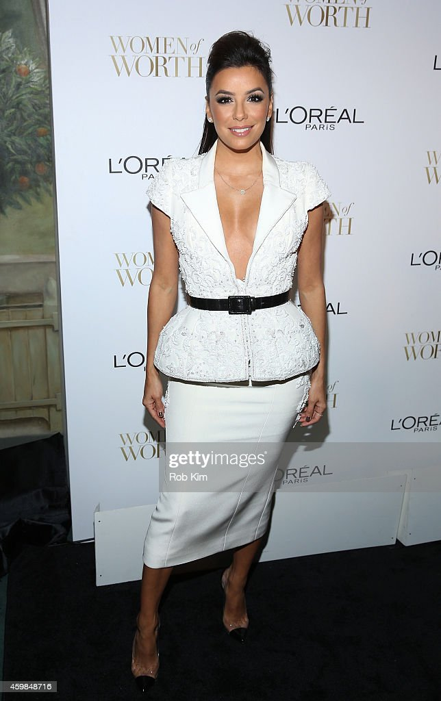 Actress <a gi-track='captionPersonalityLinkClicked' href=/galleries/search?phrase=Eva+Longoria&family=editorial&specificpeople=202082 ng-click='$event.stopPropagation()'>Eva Longoria</a> attends L'Oreal Paris' Ninth Annual Women Of Worth Celebration at The Pierre Hotel on December 2, 2014 in New York City.