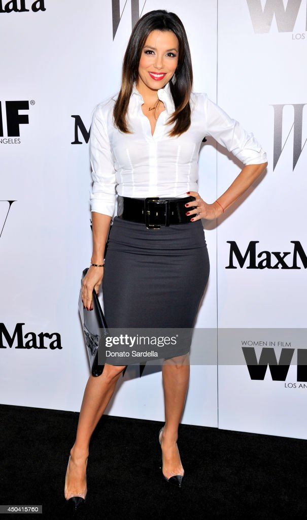 Actress Eva Longoria attends MaxMara And W Magazine Cocktail Party To Honor The Women In Film MaxMara Face Of The Future, Rose Byrne at Chateau Marmont on June 10, 2014 in Los Angeles, California.