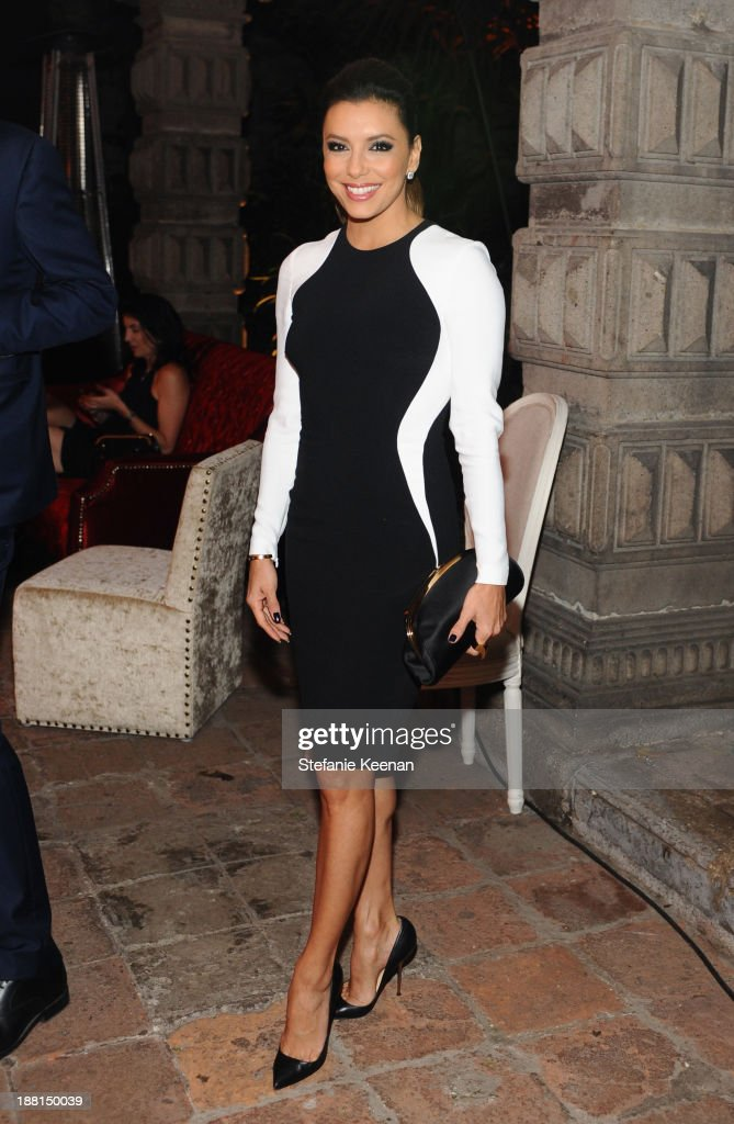 Actress <a gi-track='captionPersonalityLinkClicked' href=/galleries/search?phrase=Eva+Longoria&family=editorial&specificpeople=202082 ng-click='$event.stopPropagation()'>Eva Longoria</a> attends Museo Jumex Opening welcome dinner at Casa De La Bola on November 15, 2013 in Mexico City, Mexico.