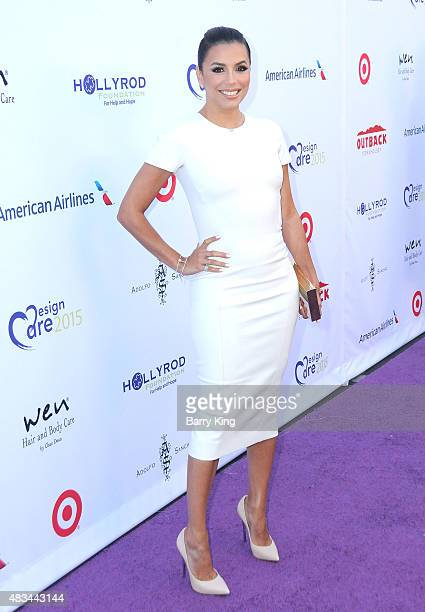 Actress Eva Longoria attends the 17th Annual DesignCare Gala at The Lot Studios on August 8 2015 in Los Angeles California