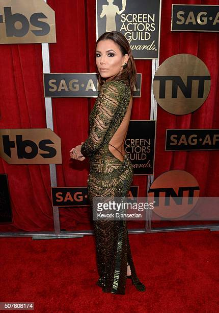 Actress Eva Longoria attends the 22nd Annual Screen Actors Guild Awards at The Shrine Auditorium on January 30 2016 in Los Angeles California