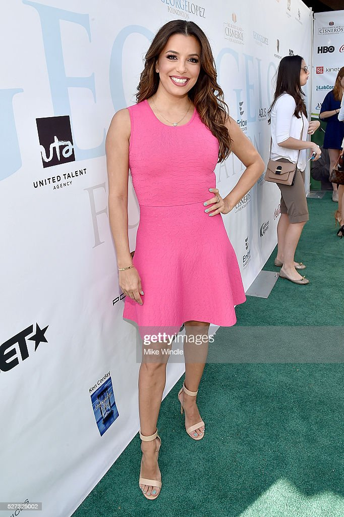 Actress Eva Longoria attends the 9th Annual George Lopez Celebrity Golf Classic to benefit The George Lopez Foundation at Lakeside Golf Club on May 2, 2016 in Burbank, California.