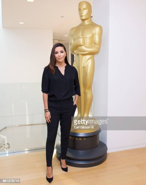 Actress Eva Longoria attends The Academy Presents The 2017 Careers In Film Summit at Samuel Goldwyn Theater on October 14 2017 in Beverly Hills...