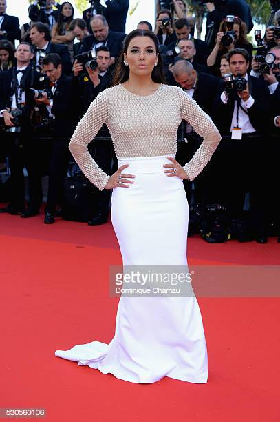 Actress Eva Longoria attends the 'Cafe Society' premiere and the Opening Night Gala during the 69th annual Cannes Film Festival at the Palais des...