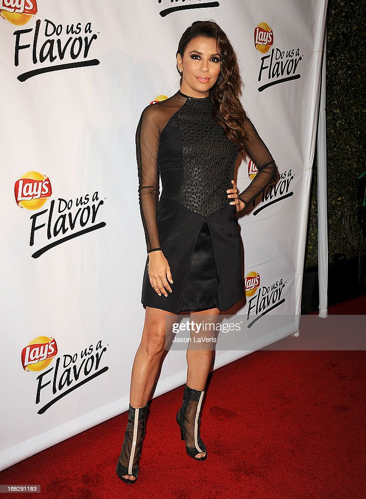 Actress <a gi-track='captionPersonalityLinkClicked' href=/galleries/search?phrase=Eva+Longoria&family=editorial&specificpeople=202082 ng-click='$event.stopPropagation()'>Eva Longoria</a> attends the 'Do Us A Flavor' contest winner announcement at Beso on May 6, 2013 in Hollywood, California.