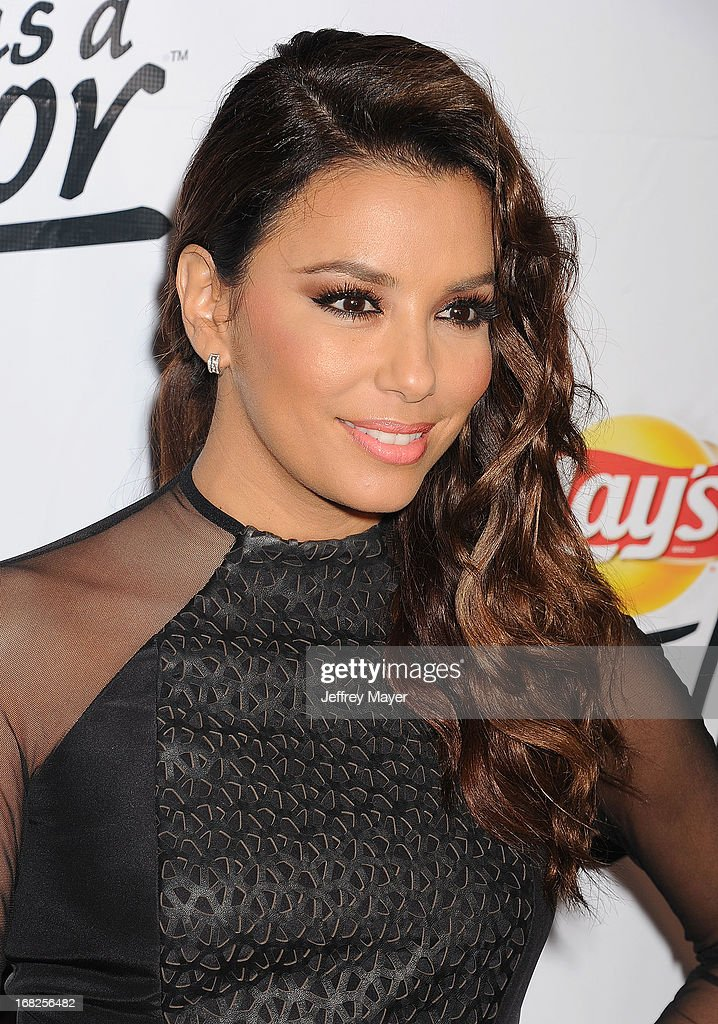 Actress Eva Longoria attends the Eva Longoria announces contest winner for 'Lay's 'Do Us A Flavor' Contest at Beso on May 6, 2013 in Hollywood, California.
