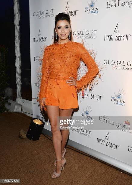 Actress Eva Longoria attends the Eva Longoria Global Gift Gala after party hosted by Nikki Beach Cannes during The 66th Annual Cannes Film Festival...