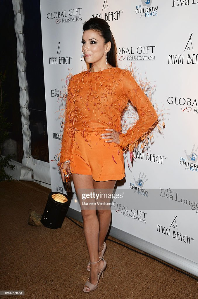 Actress Eva Longoria attends the Eva Longoria Global Gift Gala after party hosted by Nikki Beach Cannes during The 66th Annual Cannes Film Festival on May 19, 2013 in Cannes, France.
