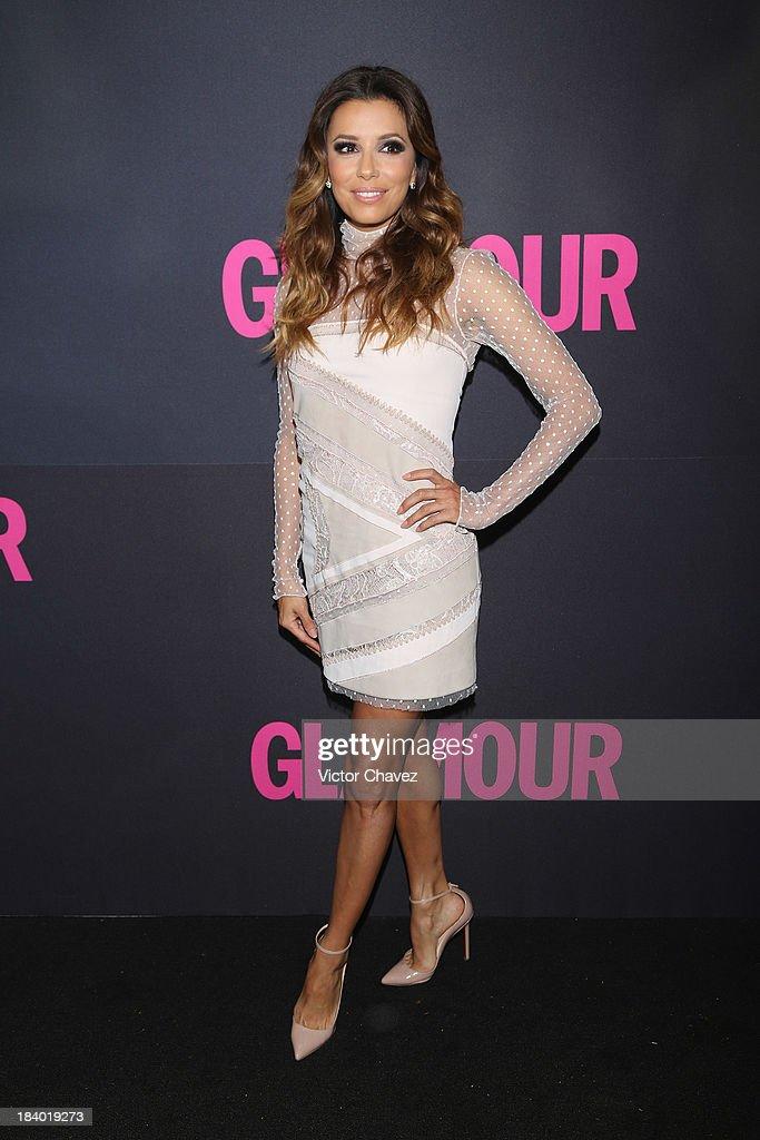 Actress Eva Longoria attends the Glamour Magazine 15th Anniversary at Casino Del Bosque on October 10, 2013 in Mexico City, Mexico.