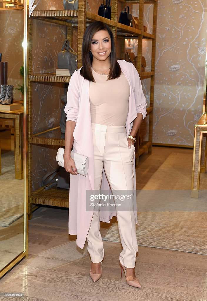 Actress Eva Longoria attends the Glamour Women To Watch Lunch hosted by Cindi Leive at the Tory Burch Boutique, Beverly Hills on September 18, 2015 in Beverly Hills, California.