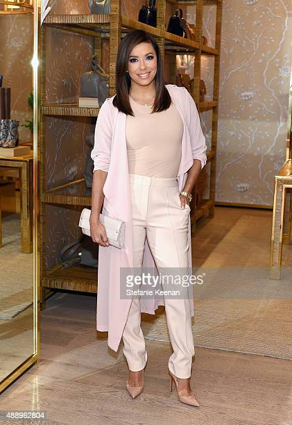 Actress Eva Longoria attends the Glamour Women To Watch Lunch hosted by Cindi Leive at the Tory Burch Boutique Beverly Hills on September 18 2015 in...
