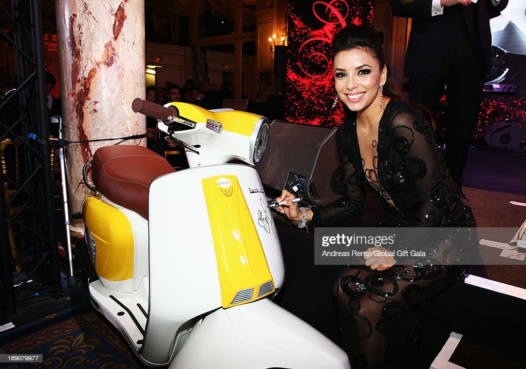 Actress Eva Longoria attends the 'Global Gift Gala' 2013 dinner and auction presented by Eva Longoria at Carlton Hotel on May 19, 2013 in Cannes, France.