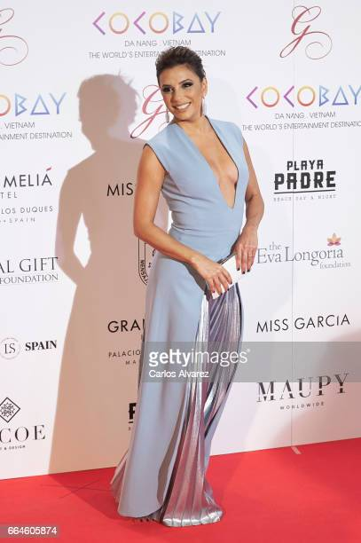 Actress Eva Longoria attends the Global Gift Gala 2017 at the Royal Teather on April 4 2017 in Madrid Spain