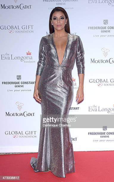 Actress Eva Longoria attends the Global Gift Gala during the 68th annual Cannes Film Festival on May 14 2015 in Cannes France