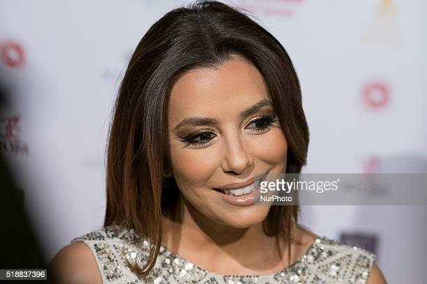 Actress Eva Longoria attends the Global Gift Gala photocall at Madrid Townhall on April 2 2016 in Madrid Spain