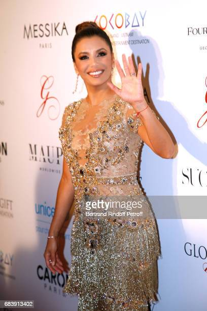 Actress Eva Longoria attends the 'Global Gift the Eva Foundation' Gala Photocall at Hotel George V on May 16 2017 in Paris France