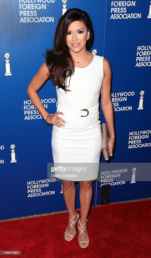 Actress <a gi-track='captionPersonalityLinkClicked' href=/galleries/search?phrase=Eva+Longoria&family=editorial&specificpeople=202082 ng-click='$event.stopPropagation()'>Eva Longoria</a> attends the Hollywood Foreign Press Association's 2013 Installation Luncheon at The Beverly Hilton Hotel on August 13, 2013 in Beverly Hills, California.