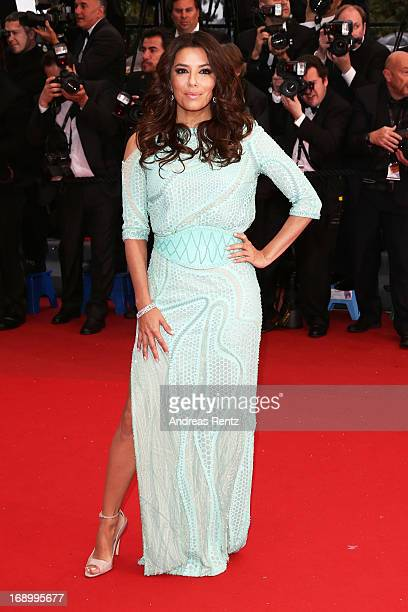 Actress Eva Longoria attends the 'Jimmy P ' Premiere during the 66th Annual Cannes Film Festival at the Palais des Festivals on May 18 2013 in Cannes...