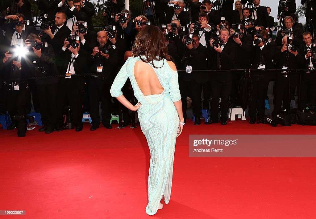 Actress Eva Longoria attends the 'Jimmy P. (Psychotherapy Of A Plains Indian)' Premiere during the 66th Annual Cannes Film Festival at the Palais des Festivals on May 18, 2013 in Cannes, France.
