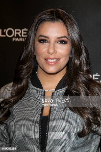 Actress Eva Longoria attends the L'Oreal meet and greet at L'OREAL Boutique on September 18 2017 in Paris France