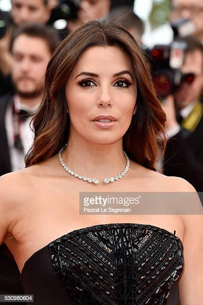 US actress Eva Longoria attends the 'Money Monster' premiere during the 69th annual Cannes Film Festival at the Palais des Festivals on May 12 2016...
