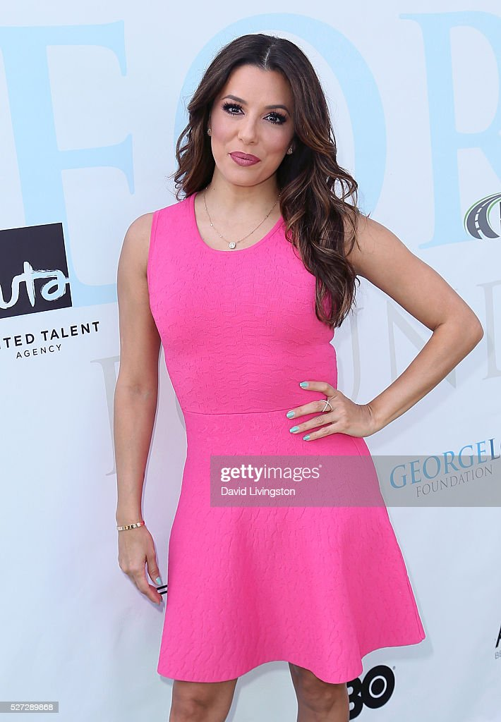 Actress Eva Longoria attends the Ninth Annual George Lopez Celebrity Golf Classic at Lakeside Golf Club on May 2, 2016 in Burbank, California.