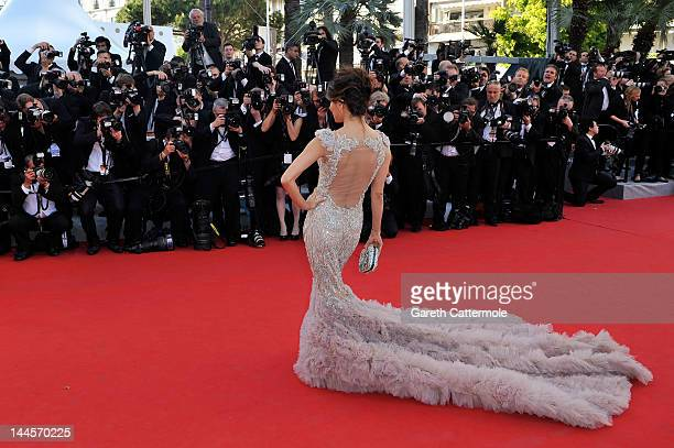 Actress Eva Longoria attends the opening ceremony and 'Moonrise Kingdom' premiere during the 65th Annual Cannes Film Festival at Palais des Festivals...