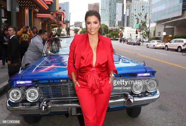 Actress Eva Longoria attends the premiere of BH Tilt's 'Lowriders' at LA LIVE on May 9 2017 in Los Angeles California