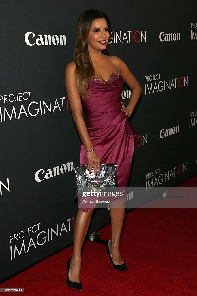 Actress Eva Longoria attends the Premiere Of Canon's Project Imaginat10n Film Festival at Alice Tully Hall on October 24 2013 in New York City