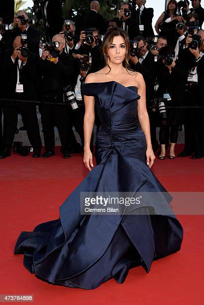 Actress Eva Longoria attends the Premiere of 'Carol' during the 68th annual Cannes Film Festival on May 17 2015 in Cannes France