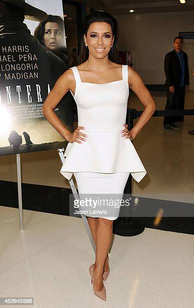 Actress Eva Longoria attends the premiere of 'Frontera' at Landmark Theatre on August 21 2014 in Los Angeles California
