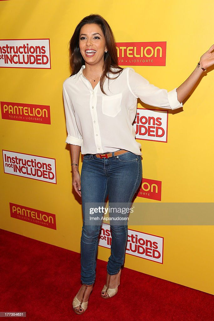 Actress <a gi-track='captionPersonalityLinkClicked' href=/galleries/search?phrase=Eva+Longoria&family=editorial&specificpeople=202082 ng-click='$event.stopPropagation()'>Eva Longoria</a> attends the premiere of Pantelion Films' 'Instructions Not Included' at TCL Chinese Theatre on August 22, 2013 in Hollywood, California.