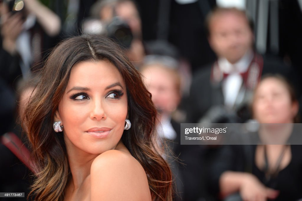 Actress <a gi-track='captionPersonalityLinkClicked' href=/galleries/search?phrase=Eva+Longoria&family=editorial&specificpeople=202082 ng-click='$event.stopPropagation()'>Eva Longoria</a> attends the 'Saint Laurent' premiere during the 67th Annual Cannes Film Festival on May 17, 2014 in Cannes, France.