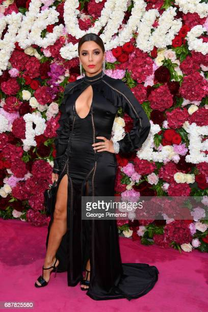 Actress Eva Longoria attends the/walks the runway at the Philipp Plein Cruise Show 2018 during the 70th annual Cannes Film Festival at on May 24 2017...