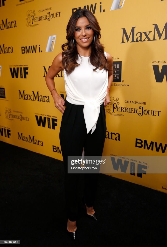 Actress <a gi-track='captionPersonalityLinkClicked' href=/galleries/search?phrase=Eva+Longoria&family=editorial&specificpeople=202082 ng-click='$event.stopPropagation()'>Eva Longoria</a> attends Women In Film 2014 Crystal + Lucy Awards presented by MaxMara, BMW, Perrier-Jouet and South Coast Plaza held at the Hyatt Regency Century Plaza on June 11, 2014 in Los Angeles, California.
