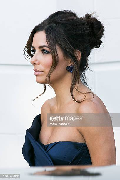 Actress Eva Longoria is seen leaving the Grand Hyatt Cannes Hotel Martinez during the 68th annual Cannes Film Festival on May 17 2015 in Cannes France