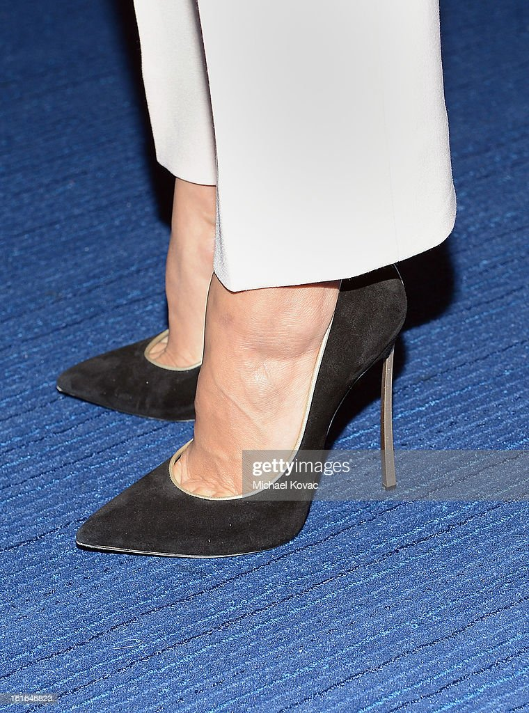 Actress Eva Longoria (shoe detail) joins Conde Nast Traveler as they celebrate The Leading Hotels Of The World 85th Anniversary at Mr. C Beverly Hills on February 13, 2013 in Beverly Hills, California.