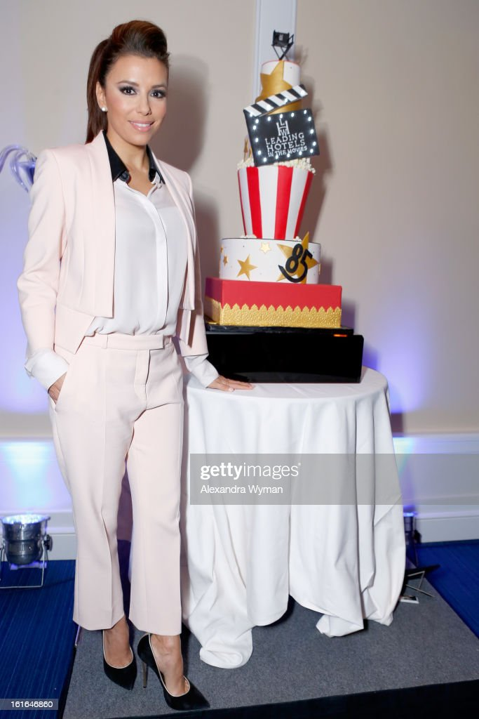 Actress <a gi-track='captionPersonalityLinkClicked' href=/galleries/search?phrase=Eva+Longoria&family=editorial&specificpeople=202082 ng-click='$event.stopPropagation()'>Eva Longoria</a> joins Conde Nast Traveler as they celebrate The Leading Hotels Of The World 85th Anniversary at Mr. C Beverly Hills on February 13, 2013 in Beverly Hills, California.