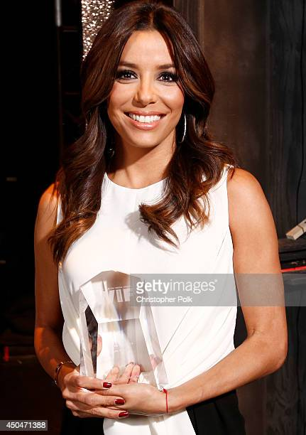 Actress Eva Longoria Norma Zarky Humanitarian Award recipient attends Women In Film 2014 Crystal Lucy Awards presented by MaxMara BMW PerrierJouet...