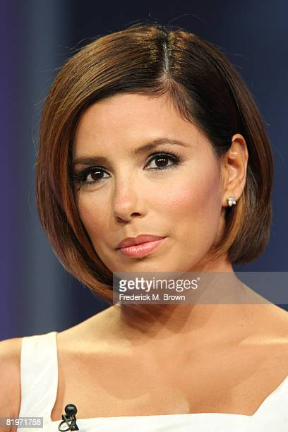 Actress Eva Longoria of 'Desperate Housewives' answers questions during the ABC portion of the Television Critics Association Press Tour held at the...