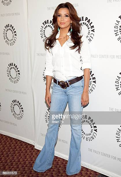 Actress Eva Longoria Parker arrives at PaleyFest09 'Desperate Housewives' at ArcLight on April 18 2009 in Hollywood California