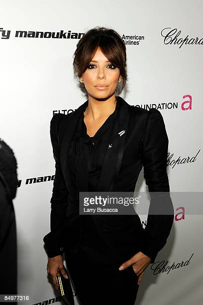 Actress Eva Longoria Parker arrives at the 17th Annual Elton John AIDS Foundation Oscar party held at the Pacific Design Center on February 22 2009...