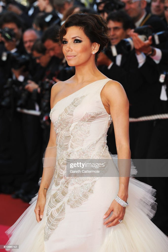 Actress Eva Longoria Parker arrives at the Kung Fu Panda Premiere at Palais des Festivals during the 61st International Cannes Film Festival on May 15 , 2008 in Cannes, France.