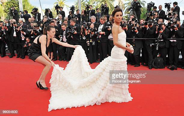 Actress Eva Longoria Parker attends the 'Robin Hood' Premiere at the Palais De Festivals during the 63rd Annual Cannes Film Festival on May 12 2010...