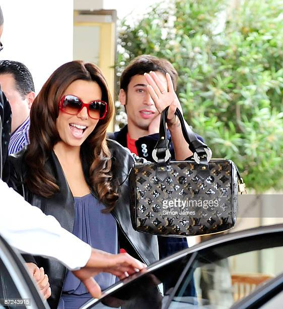 Actress Eva Longoria Parker leave her hotel on May 15 2009 in Cannes France