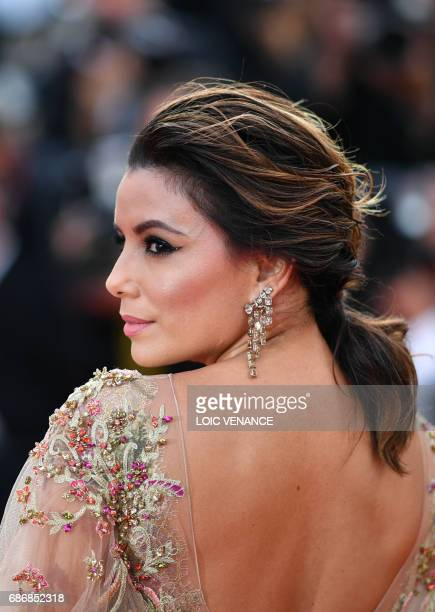 US actress Eva Longoria poses as she arrives on May 22 2017 for the screening of the film 'The Killing of a Sacred Deer' at the 70th edition of the...