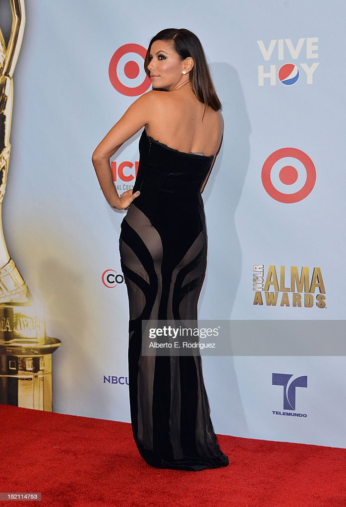 Actress <a gi-track='captionPersonalityLinkClicked' href=/galleries/search?phrase=Eva+Longoria&family=editorial&specificpeople=202082 ng-click='$event.stopPropagation()'>Eva Longoria</a> poses in the press room during the 2012 NCLR ALMA Awards at Pasadena Civic Auditorium on September 16, 2012 in Pasadena, California.